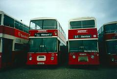 C100UBC_A487HKB_03062002 (Rossendalian2013) Tags: bus warrington lancashire east dennis leyland olympian dominator warringtonboroughtransport coachbuilders leicestercitybus onlxb c100ubc a487hkb