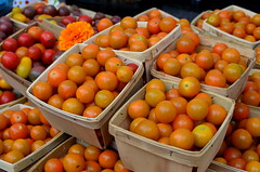 Sungolds (pjpink) Tags: summer vegetables virginia farmersmarket market july richmond southside rva foresthillpark 2014 soj southofthejamesmarket pjpi8nk