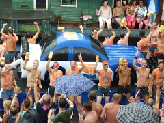 Car Wash at the Canal Parade 2014 (Truus, Bob & Jan too!) Tags: gay netherlands amsterdam lesbian nederland pride canals parade lgbt prinsengracht gaypride upstream canalparade 2014 amsterdampride lhbt