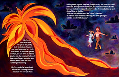 Gertrude's Volcano (jessie b @ spunkidoodle) Tags: mountains illustration volcano flying tahoe laketahoe glacier sierranevada childrensbook emeraldbay childrenart bookdesign mtpluto
