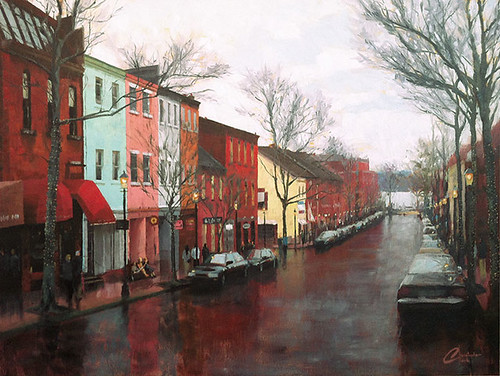 Old Town Alexandria in the Winter, Commission Painting