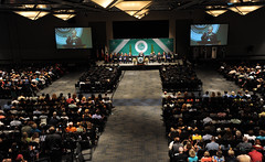 2014 Summer Commence (GeorgiaGwinnettCollege) Tags: family friends summer audience stage wideshot august fromabove indoors speaker chancellor inside commencement lookingdown scholarship screens speaking graduates 2014 gwinnettarena keynoteaddress facingthestage august52014 hankhuckaby