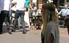 Shade Walk (Terry Moran aka Tezzer57) Tags: street london girl shadows candid teen blonde carnabystreet londonist canoneos400d canon400d summerof2014