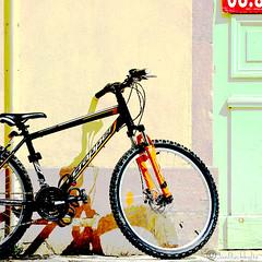 Go Sport Scrapper Hard-tail Bicycle (jan buchholtz) Tags: france bike bicycle colorful burgundy bicicleta mtb commuter vlo scrapper gosport tournus saneetloire labourgogne janbuchholtz