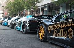 Double DoubleGr6 In NYC (akahn177) Tags: nyc blue two black body rally double bumper kit decal carbon rims bugatti lamborghini rare coupe goldrush combo veyron vitesse supersport gr6 aventador purblanc bleugatti