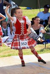 No 352 dancing (Anita K Klaasen) Tags: red horses girl festival scotland kilt dancing scottish fair dancer velvet riding common fayre tartan woollen commonriding scottishdancing langholm