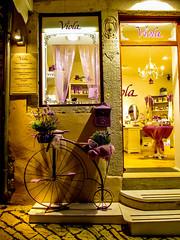 Rovinj, Istria, Croatia (mandyhedley) Tags: restaurant islands artwork steps croatia flags palmtrees shops fishingboats peninsula rovinj doorways fishingvillage istria thunderstorms thunderyskies