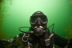 Pike's perspective (Arne Kuilman) Tags: groeneheuvels lake meer underwater diving duiken diver selfie 105mm fisheye nikon waterplants me portrait photo bergharen netherlands nederland onderwater scubapro waterproof hood explore explored 53 10kviews
