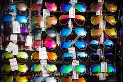Colors of Sunglasses (Hkan Dahlstrm) Tags: summer colors sunglasses se skne sweden sverige sterlen 2014 marknad kivik skneln kiviks simrishamnn
