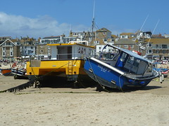 Beached (Richard and Gill) Tags: beach boats coast cornwall harbour wharf fishingboats stives cornish kernow dollyp