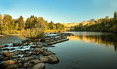 Calm Payette (http://fineartamerica.com/profiles/robert-bales.ht) Tags: blue trees fall robert water beautiful clouds wow reflections river spectacular morninglight photo whitewater awesome scenic surreal peaceful bank panoramic rapids idaho boise pacificnorthwest northamerica sensational bales inspirational spiritual sublime magical emmett magnificent inspiring haybales blackcanyon payetteriver canonshooter treasurevalley gemcounty scenicbiway silkwater riverphotography idahophotography slikwater americaphotography