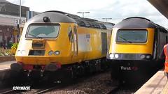 Network Rail 43014 'The Railway Observer' at Taunton (Rorymacve Part II) Tags: diesel engine rail seawall locomotive express nmt intercity hst teignmouth highspeedtrain diesellocomotive class43 intercity125 43014 43013 newmeasurementtrain southdevonmainline