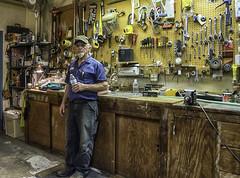 DUANE (akahawkeyefan) Tags: portrait shop tools maintenanceman davemeyer kingsburgdistricthospital