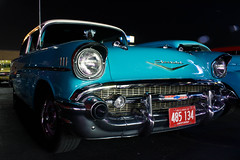 (nikidabrowski) Tags: cruise blue light hot cars night canon photography rebel photo natural muscle top indiana highland chevy rod friday niki 2014 august8 dabrowski t5i