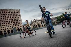 Bikers (Maciek Leszczelowski) Tags: cafe ruins republic russia palace soviet elections abkhazia unrecognized separatists sukhumi sukhum abhazija abchazja