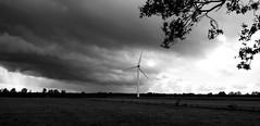 storm over norby (joe.laut) Tags: bw cloud landscape blackwhite wolke august sw schwarzweiss landschaft windrad 2014 norby incoloro joelaut