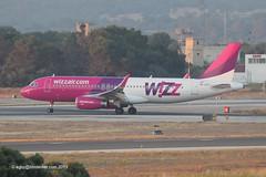 HA-LWT - 2013 build Airbus A320-232, shortly after arrival on Runway 24L at Palma (egcc) Tags: airbus mallorca palma majorca a320 wizzair pmi w6 5615 a320232 wzz lepa wizzaircom sharklets halwt