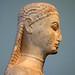 New York Kouros, detail of head (profile)