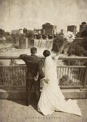Grunge (K McGuckin) Tags: city bridge flowers wedding newyork love canon waterfall dress heart husband rochester wife 6d highfalls newleyweds lseries