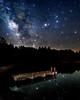 Starry Dock #nightsky (Sky Noir) Tags: sky lake nature water night reflections dark stars pier dock landing astronomy milkyway skynoir