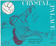Crystal Palace vs Chelsea - 1971 - Cover Page (The Sky Strikers) Tags: crystal palace chelsea selhurst park london derby goalie beaten football programme 1971 1970s seventies 70s