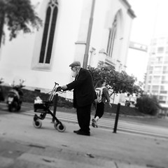 Old man walking (Eric_G73) Tags: street old people blackandwhite walking square beard streetlife oldman elderly squareformat cart inkwell déambulateur iphoneography instagramapp uploaded:by=instagram foursquare:venue=4adcdab5f964a520a55021e3