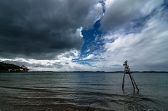 A storm coming in from Auckland (Kiwi Tom) Tags: sea newzealand weather clouds nikon auckland d5100