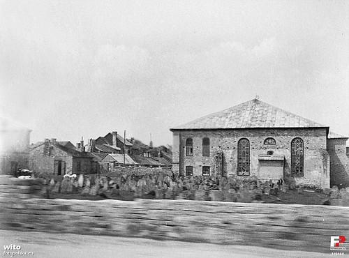 Synagoga i kirkut, początek II wojny światowej (fotopolska.eu)