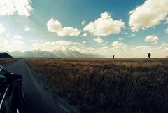 On the road again - with Grand Teton NP in the front (Marijke Clabots) Tags: sky usa america landscape nationalpark nikon paradise view roadtrip ontheroad grandteton grandtetonnationalpark takemeback d3000 marijkeclabots