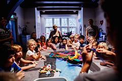 ZigZag (Waag Society) Tags: color art wool public amsterdam festival kids children education knitting europe technology felting creative craft event international textile learning schools teachers waag nieuwmarkt making weaving weave zigzag primaryschool guerrilla fabrics craftsmanship culturalheritage youngsters handycrafts waagsociety makeymakey