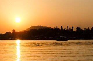 Sunset View from Dal Lake