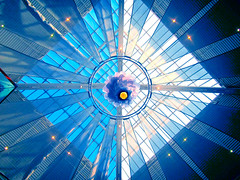 "Skylight (vickilw) Tags: blue skylight 7daysofshooting thoroughlyabstractthursday week10""""shopsandshopping"