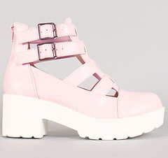"leatherette-round-toe-buckle-strap-bootie-pink • <a style=""font-size:0.8em;"" href=""http://www.flickr.com/photos/64360322@N06/15281987172/"" target=""_blank"">View on Flickr</a>"