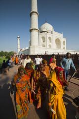 Taj Mahal (Shubh M Singh) Tags: street people woman india colors architecture nikon women candid indian 14 taj mahal agra 28 mm colourful saree sari saris uttarpradesh samyang