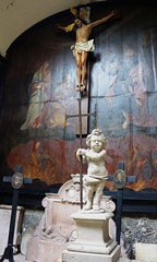 St. Peter's Catacombs, Salzburg AT (Boston Runner) Tags: saint peter abbey catacombs salzburg austria 2016 view cemetery petersfriedhof church entrance cherub crucifixion