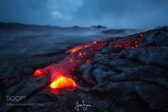 Big Island (BostonHVAC167) Tags: mist landscape fog red travel island vacation landscapes hawaii hot misty big holiday lava foggy eruption landschaft hawaii county