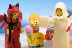 Eat it or leave it? (Lesgo LEGO Foto!) Tags: lego minifig minifigs minifigure minifigures collectible collectable legophotography omg toy toys legography fun love cute coolminifig collectibleminifigures collectableminifigure legosimpsonsminifiguresseries2 simpsons thesimpsons series2 homersimpson homer simpson coke cocacola cola soda icecream ice cream strawberry beach angel devil temptation series16 series 16 cutelittledevil little