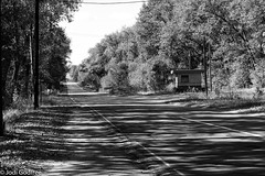 view down the long Chernobyl road (Dave and Jodi Piddington) Tags: chernobyl ukraine holiday decay abandonedbuildings death history nucleardisaster accident travel dark tourism darktourism photography architecture nuclear disasters adventure kiev blackandwhite
