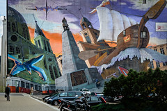 Lodz-1 (Alex Ignatov) Tags: europe lodz poland architecture building graffiti streetart streetphotography lodzvoivodeship pl