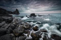 Il mare dipinto come un acquarello (davide.calasanzio) Tags: landscape santatecla acqua alba blu mare paesaggio seascape sun sunrise water flikrsicilia