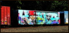 (timetomakethepasta) Tags: king157 rtm wholecar freight train graffiti art boxcar ssw golden west service new york benching selkirk vivid colorful shiny outdoors photography