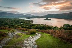 Dawn over Derwent (gms) Tags: lakedistrict cumbria catbells derwentwater derwent path hill lake sunrise dawn