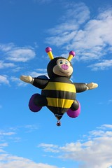 busy (Karol Franks) Tags: albuquerque balloon newmexico 2016 fiesta sky ballooning soaring bee busy wings smile clouds color adventure freedom glee canon