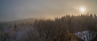 Der Nebel war schneller oben als der Fotograf