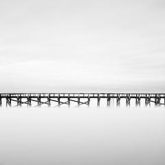 _MG_5285 (ruben redondo...) Tags: francia capbreton agua puente faro monocromo