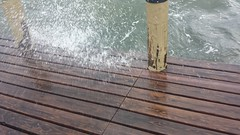20161006_170219 (rolyrol1982) Tags: hurricane matthew wave waves crashing florida bay key largo dock pier 2016 bad weather