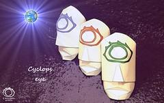 03_Cyclops-Olmec Cyclops eye (Mark Lch) Tags: origami cyclops head paper eye earth