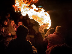 TB4 (Rockman of Zymurgy) Tags: ottetystmary devon uk tarbarrel tar barrels flame flaming fire crowd scorch barrel alight