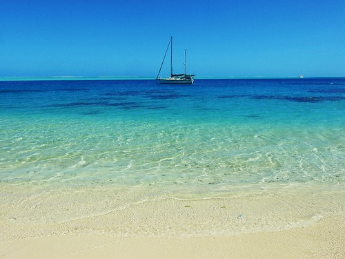 Matira beach in Bora Bora - French Polynesia