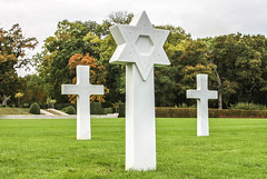 REMEMBERING THE FALLEN (BIG KEV6 ## THE MACKEM ##) Tags: american cemetery star of david jewish faith marble headstone white grave medal latin cross